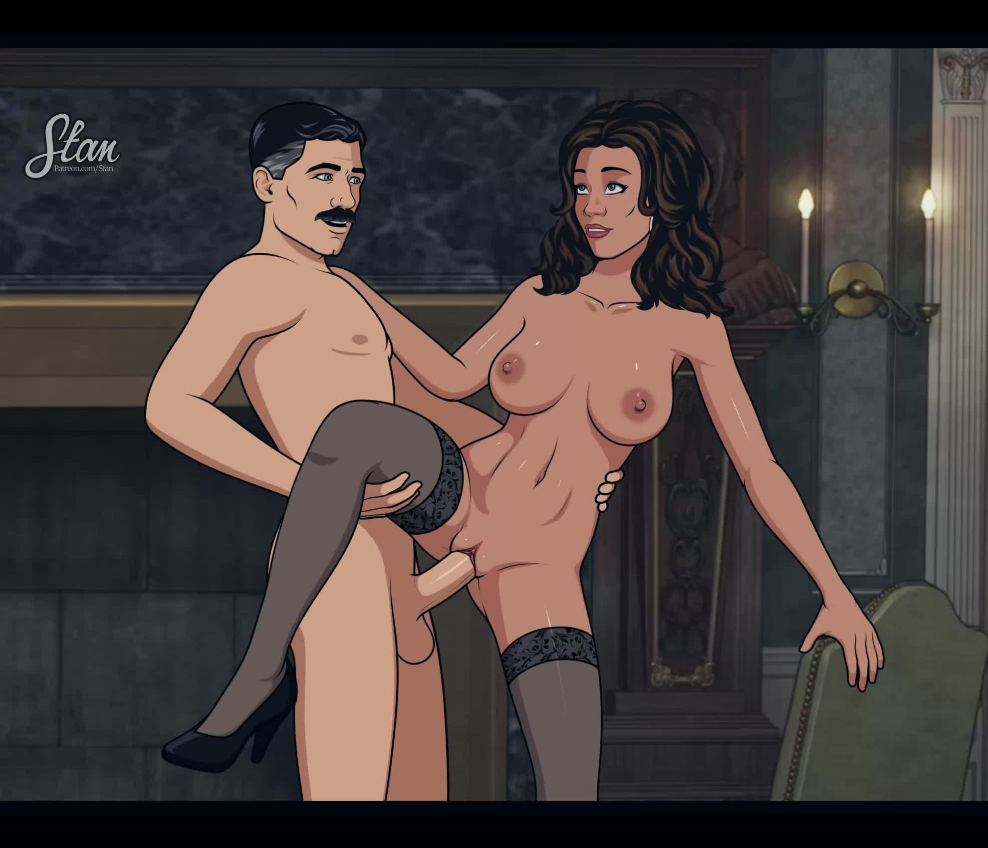 Archer Cartoon Tits