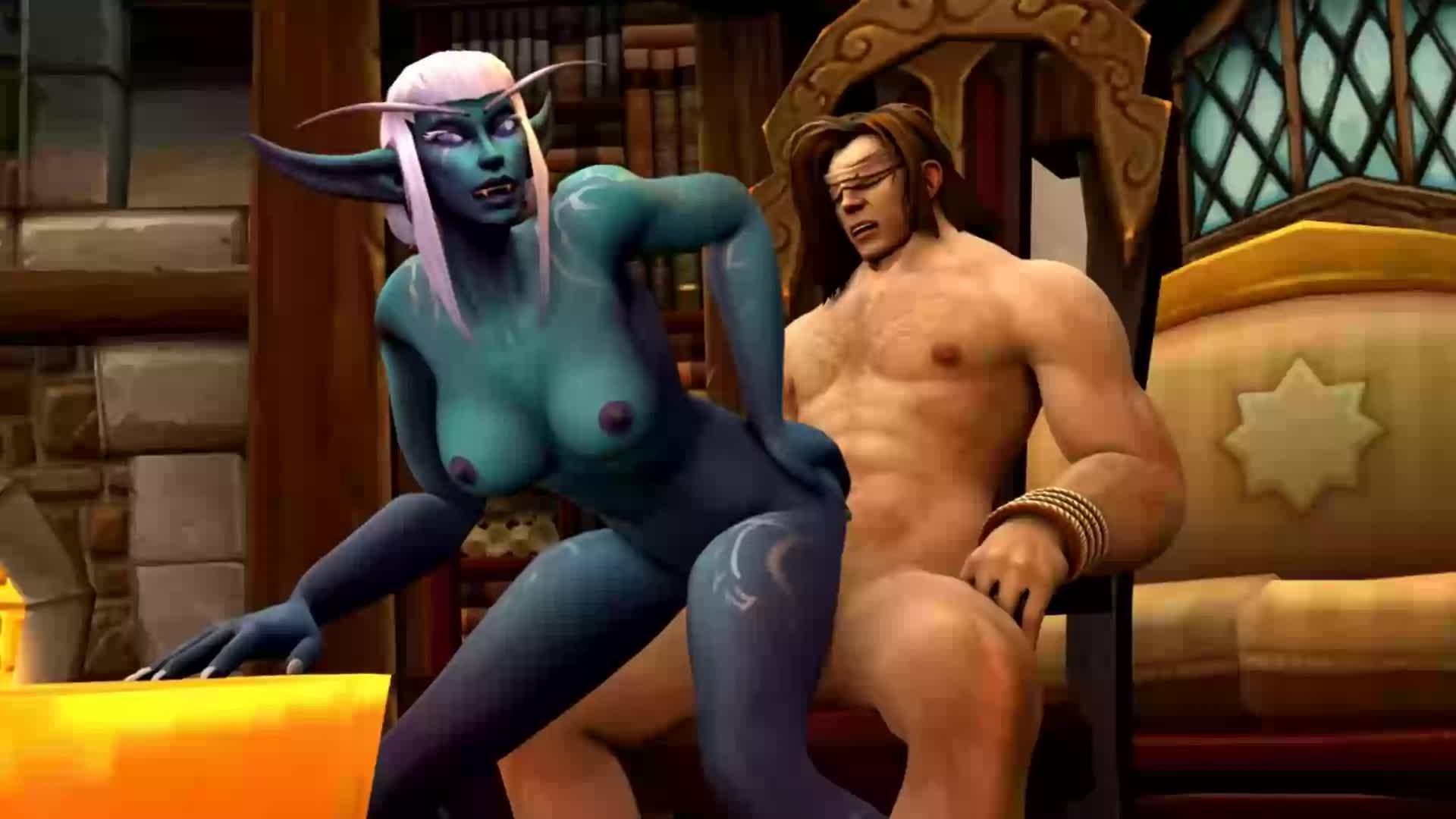 World Of Warcraft Nelf X Orc Hard Fuck Anal Animated Sfm